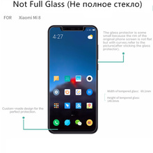 For Xiaomi Mi 8 Glass Screen Protector For Xiaomi Mi 8 Tempered Glass Film Mi 8 Protective Glass Film For Xiaomi Mi 8 Glass Film asling tempered glass screen film for xiaomi mi 8