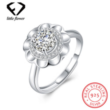 925 Sterling Silver Inlaid Stone Flower Open Rings for Women European and American Fashion High-end Micro-inlaid Fine Jewelry 21 30 16mm natural ore turquoise inlaid vintage rings 925 sterling silver inlaid jewelry gem free shipping