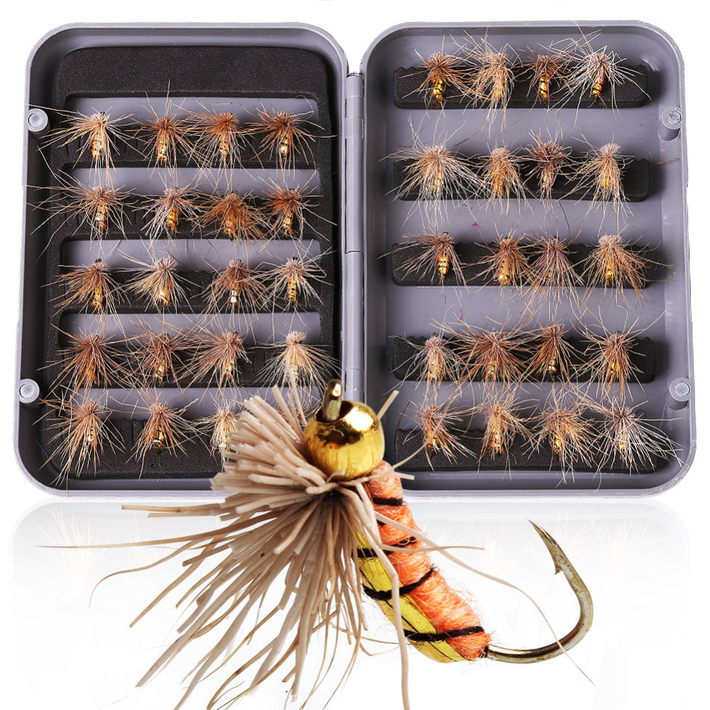 40 pcs/box Fly Fishing Tying Hooks High Simulation Lifelike Fly Fishing Flies Fly Fishing Lure Tackle Accessories 5sheets pack 10cm x 5cm holographic adhesive film fly tying laser rainbow materials sticker film flash tape for fly lure fishing