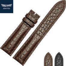 JEAYOU Haute Qualité Alligator Bracelet Band Cas Pour Longines Omeaga IWC Véritable Crocodile En Cuir Bracelet Pour Hommes