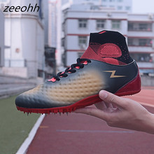 zeeohh Hot Sell Track & Field Shoes For Men Women Breathable Spikes Running Shoes Comfortable Track Shoes Spikes Sneakers Men(China)