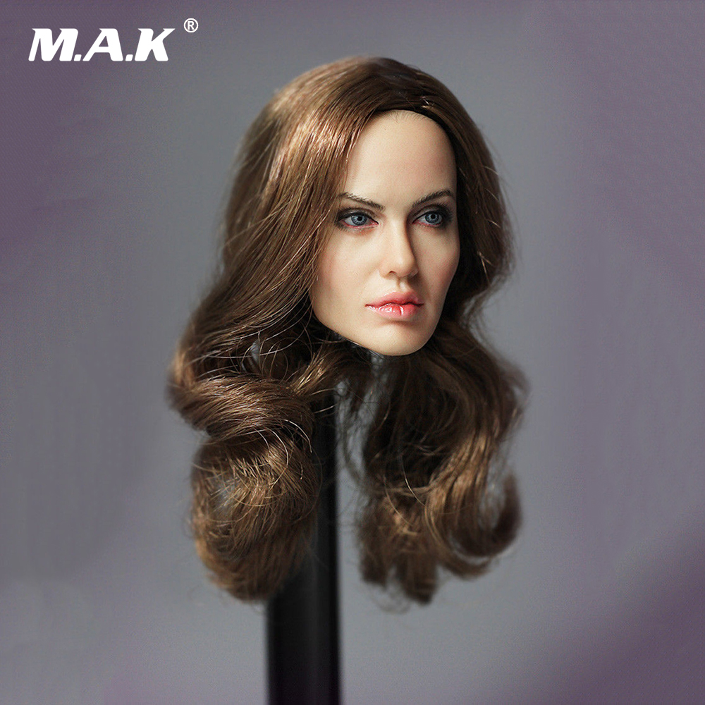 1/6 Scale US Actress Director LG04 Angelina Jolie Head Sculpt Carving Model for 12 inches Action Figure 1 6 scale head sculpt km36 angelina jolie head 12 female action figure doll head carving model toys