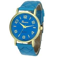 Important Scorching Excessive High quality relogio feminino Girls Geneva Fake Leather-based Analog Quartz Wrist Watch Feb10