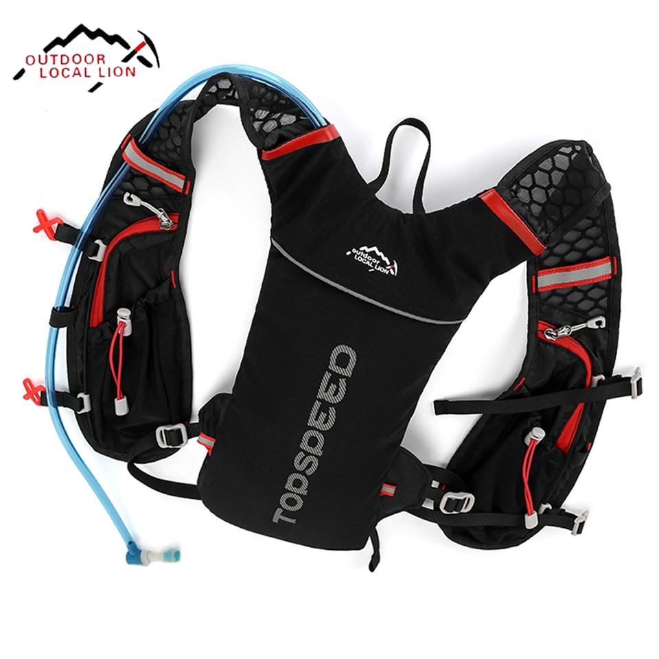 LOCAL LION Running Bag Bicycle Backpack <font><b>Cycling</b></font> Run Bag Rucksack Hydration Men Sport Bags Light Waterproof Riding Bike Back Pack