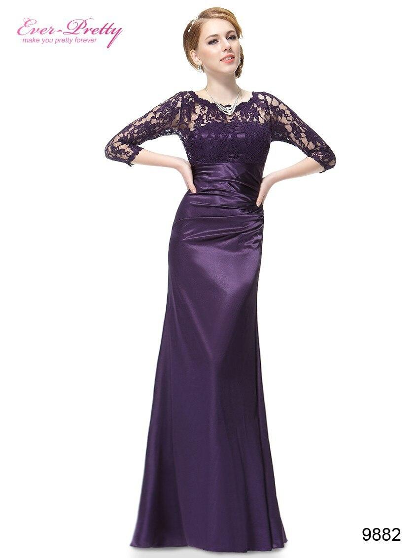 Elegant Evening Dresses Lace Women\'s Long Purple 2017 Black Ever ...