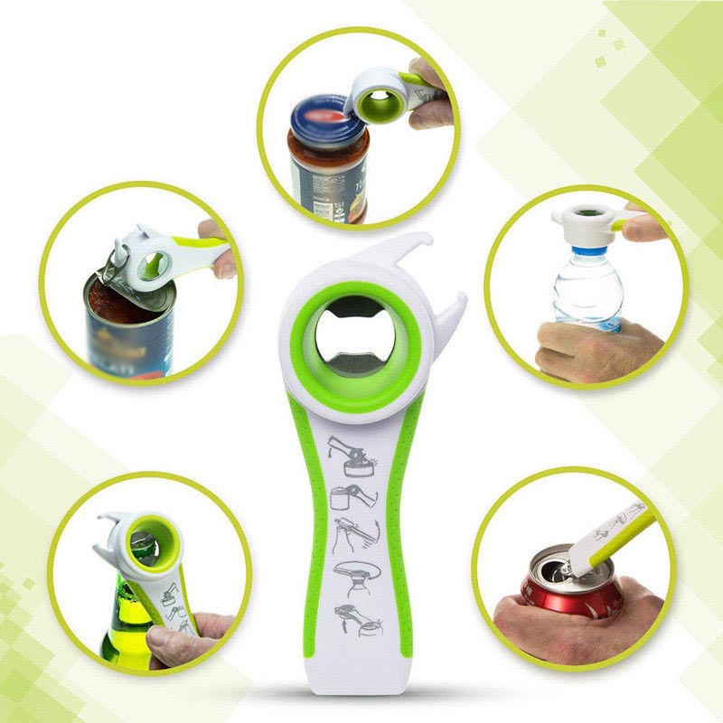 5 In 1 Hot Sale Multi-fuctional All In One Opener Bottle Opener Jar Can Kitchen Manual Tools Accessories Multifunction Drop Ship
