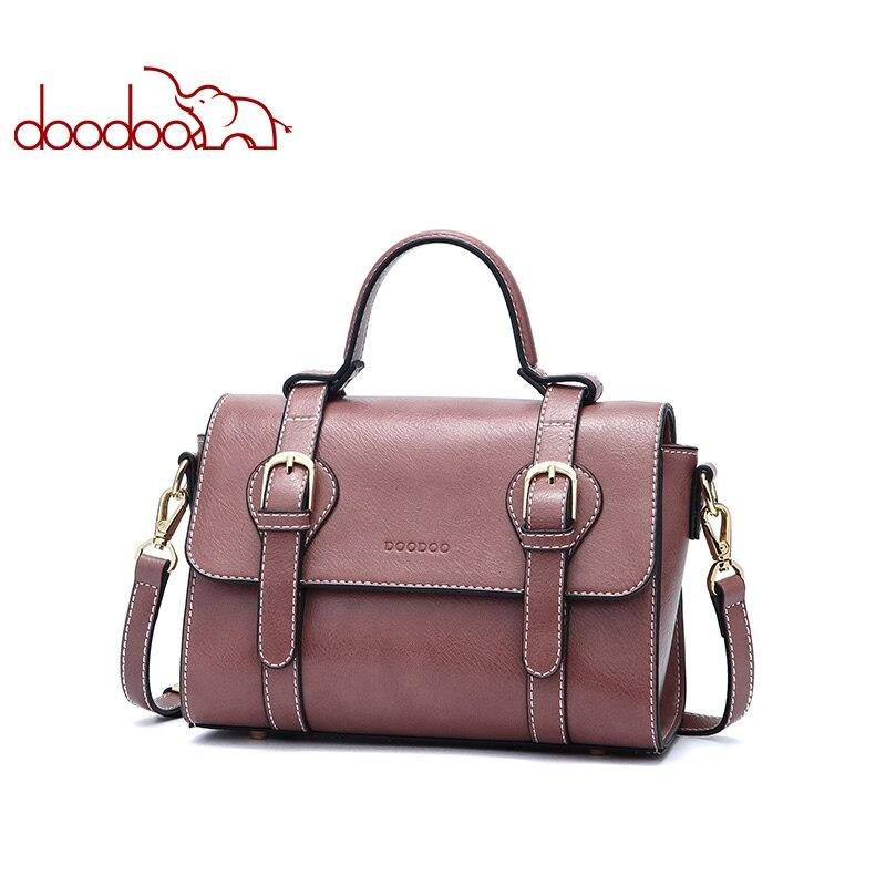 DOODOO Brand Women Handbags Female Shoulder Messenger Bags Ladies Artificial Leather Top-handle Bag Newest Belt Postman Tote Bag цена 2017
