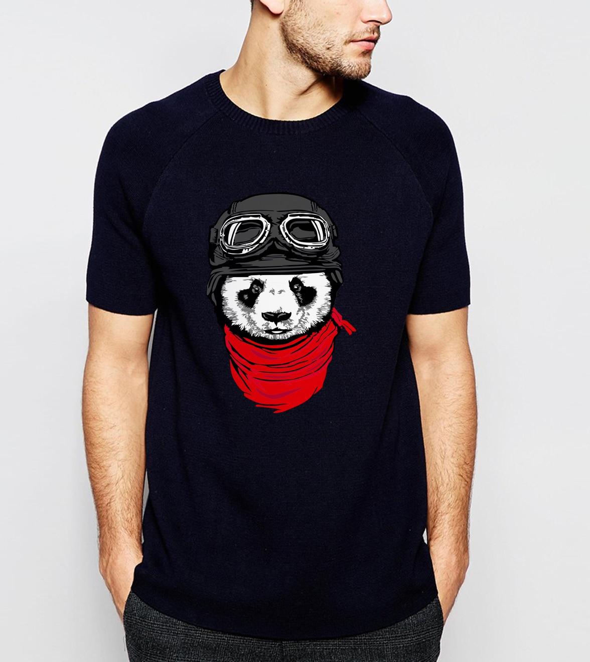 New Arrival Cute Panda Printed Men T-shirt 2019 Summer Fashion 100% Cotton High Quality Harajuku Streetwear Hip Hop Tee Shirt