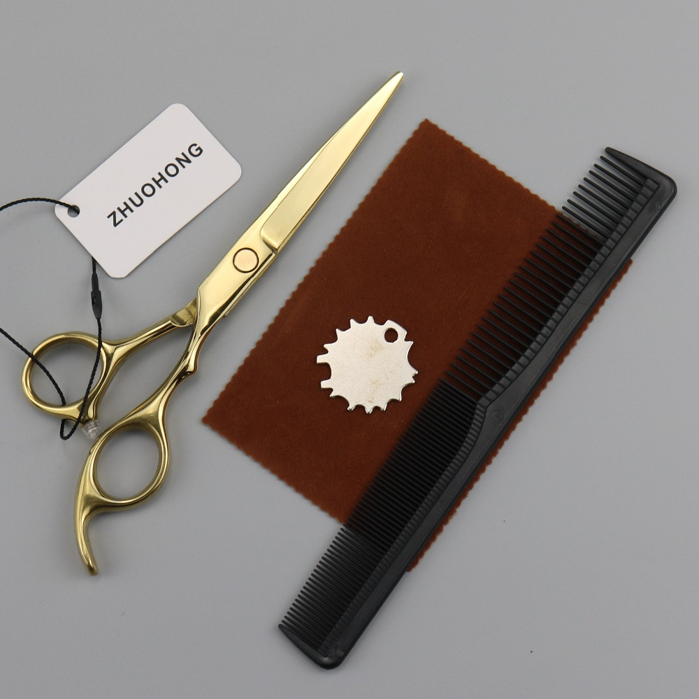 5.5 kit barber scissors japan hair scissors cutting salon hairdressing scissors beard mustache professional shears 440c steel  2