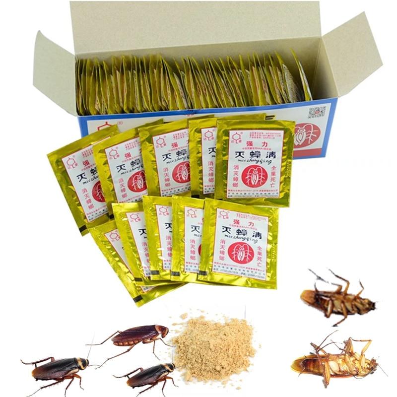 20PCS/Lot Effective Cockroach Powder Bait Insect Roach Killer Pest Trap Killer Cockroach Bait Pesticide Reject Pest Control