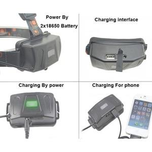 Image 4 - Boruit RJ5000 USB LED פנס עמיד למים פנס 3Led 8000LM נטענת 18650 ראש מנורת אורות סוללה מטען