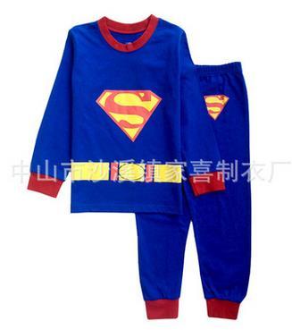 edb7c2a278 Pigiami per bambini 2018 autunno/inverno abbigliamento per bambini 2 pz  lungo manicotto supereroe Superman/Batman abbigliamento ragazzi pigiama in  Pigiami ...