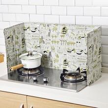 Настенная Масляная брызгозащищенная перегородка газовая плита алюминиевая фольга скандинавский стиль масляная перегородка кухня брызговик устойчивая маслоизоляция Кабан