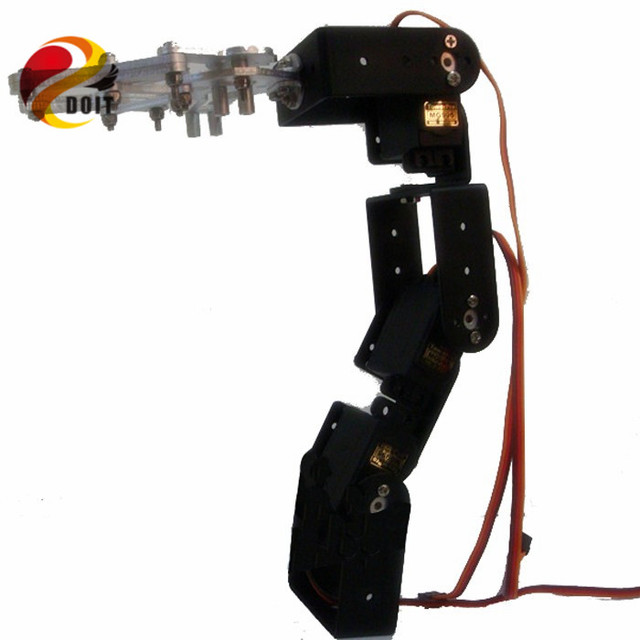 Официальный DOIT 4dof Робота-Манипулятора Робота, установленных на Транспортных средствах для Салона Автомобиля Шасси Танка + Механический Коготь + 4 ШТ. Высокий Крутящий Момент