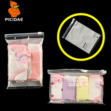 White Panties Woman Print Pattern Transparent Reseal Package Slide Valve Bag Plastic PE Dedicated Zipper Ziplock Child Ms