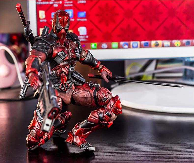 Anime Filme X-Homens Deadpool Figura de Ação Playarts Kai estatueta Coleção Modelo de brinquedo Jogar arts Variant 26 cm crianças boneca Brinquedos