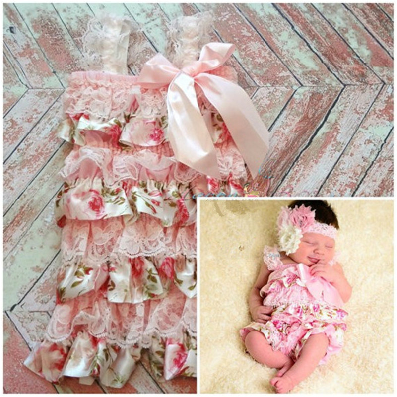 Clearance Baby Girls Lace Rompers Newborn Baby Cake Smash Petti Ruffle Romper Infant Jumpsuit Girls Lace Onsie Baby Clothes