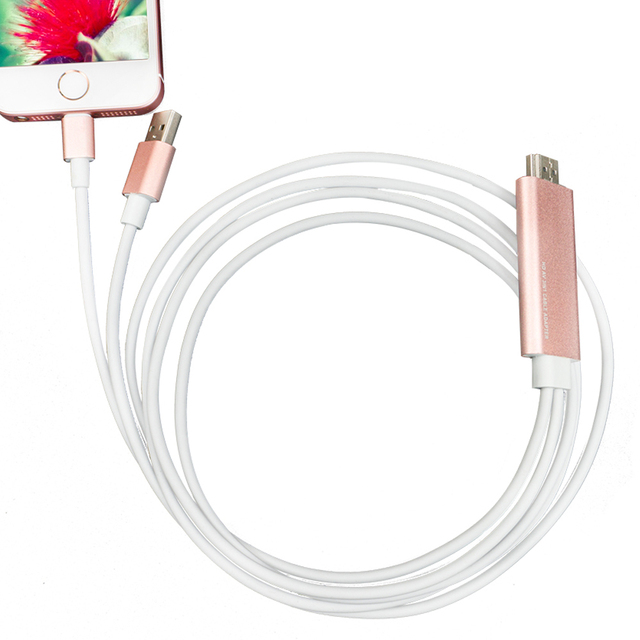 Hight Speed USB 8 Pin Кабель для HDMI HDTV AV USB TV Stick 1080 P Цифровой Зарядное Устройство Кабель Синхронизации для iphone 6/6 s/5/5S/7/7 плюс