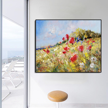 Flower Field Famous Oil Painting Wall Art Poster Print Canvas Calligraphy Decor Picture for Living Room Home