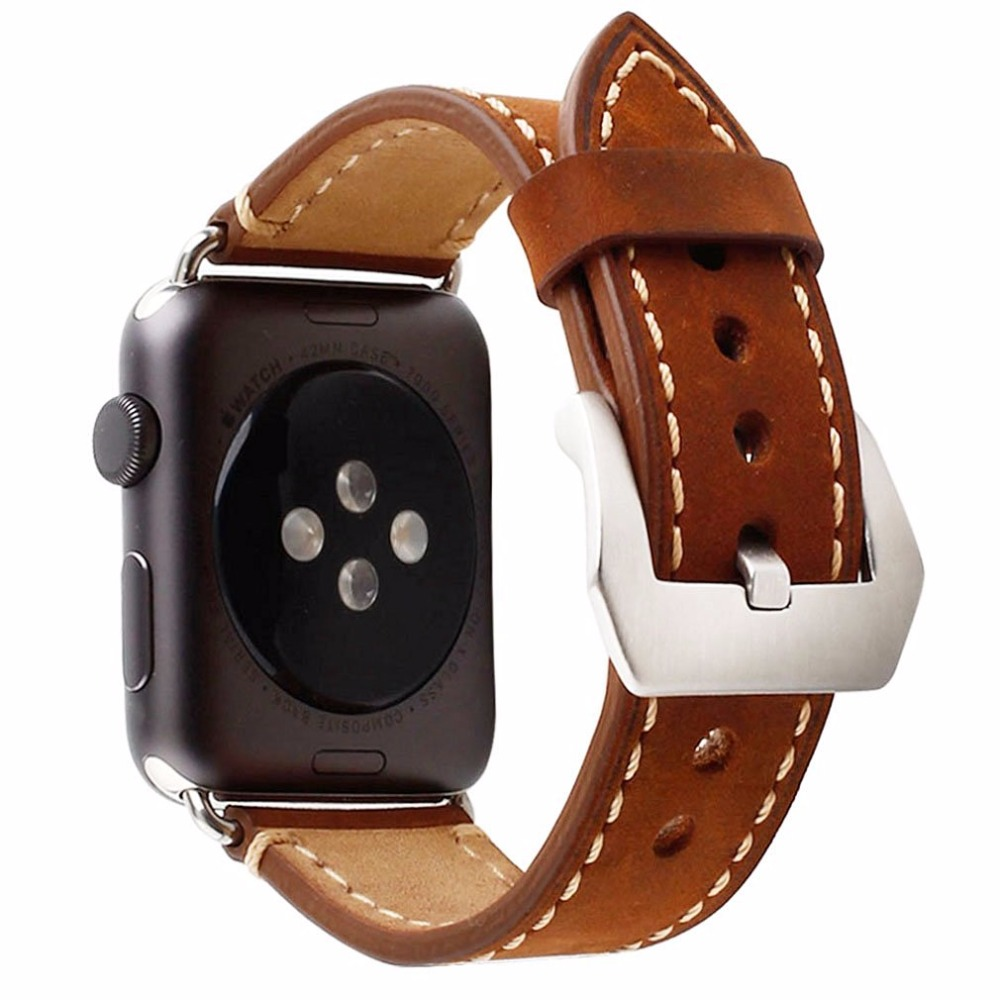 Premium Genuine Leather Strap Watch Band For Apple Watch iWatch  Series 1/Series 2 38mm 42mm Wristband Replacement