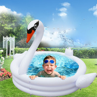 inflatable white swan pool children inflatable baby swimming zwembad piscina piscine gonflable float swimming pool for kids