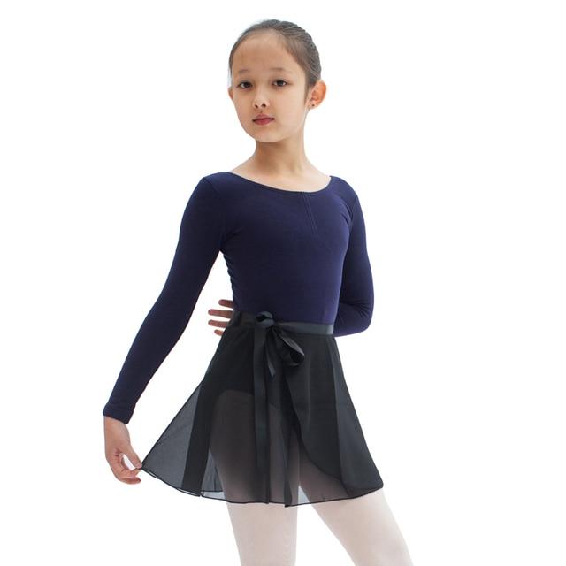Ballet Jupe Pour Les Filles de Haute Qualité Noir Couleur Justaucorps  Mousseline de soie de Danse 09f90414e39