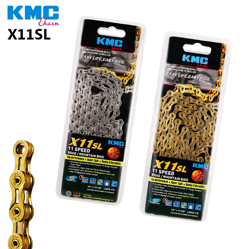 KMC X11SL 11 Speed 116L Bike Chain Titanium Gold