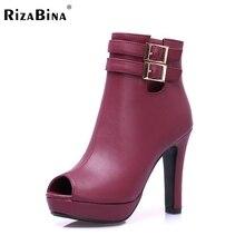 Женщины туфли на каблуках пип открытым носком весна качество обувь платформа мода на высоких каблуках насосы туфли на каблуках размер 34-39 P17131