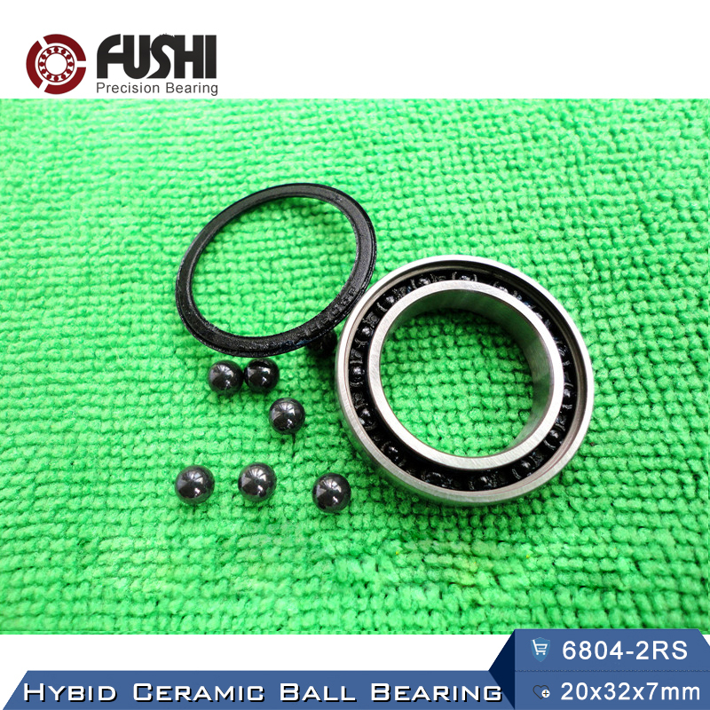 6804 Hybrid Ceramic Bearing 20x32x7 mm ABEC-1 ( 1 PC ) Bicycle Bottom Brackets & Spares 6804RS Si3N4 Ball Bearings коньки onlitop abec 7 223f р 29 32 blue 1131909
