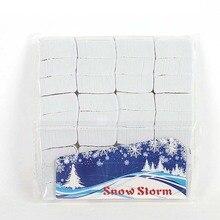 12 шт./лот Волшебные трюки белый снег бумага маг сценические принадлежности маленькая бумага для снежинок бумага Snow Storm реквизит игрушки 3,4 см* 2,4 см