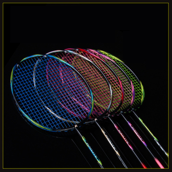 Ultraleicht 8U 64g Aufgereiht Badminton Schläger Professionelle Carbon Badminton Schläger carbon fiber Griffe und Armband