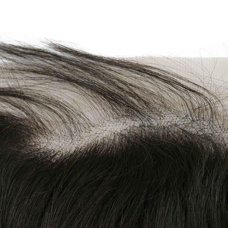 [Beri-beri Fashion] 13X6 Renda Frontal Brasil Perawan Rambut Bagian Bebas Alami Rambut dengan Bayi Rambut Alami warna 10-20 Inch