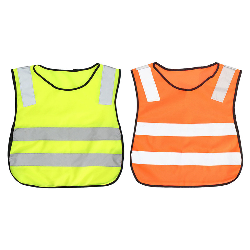 Durable Details about Children Safety Waistcoat Vest Grey Reflective Strips Hi Vis Traffic Clothes NEW good sale reflective safety vest 2 strips waistcoat for construction traffic warehouse green