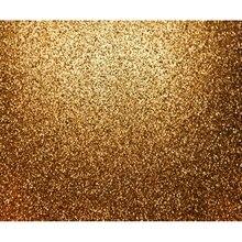 Glitter dourado Lantejoulas Glittering Ouro photo studio Computador impresso pano de fundo do casamento pano de fundo de Vinil de Alta qualidade