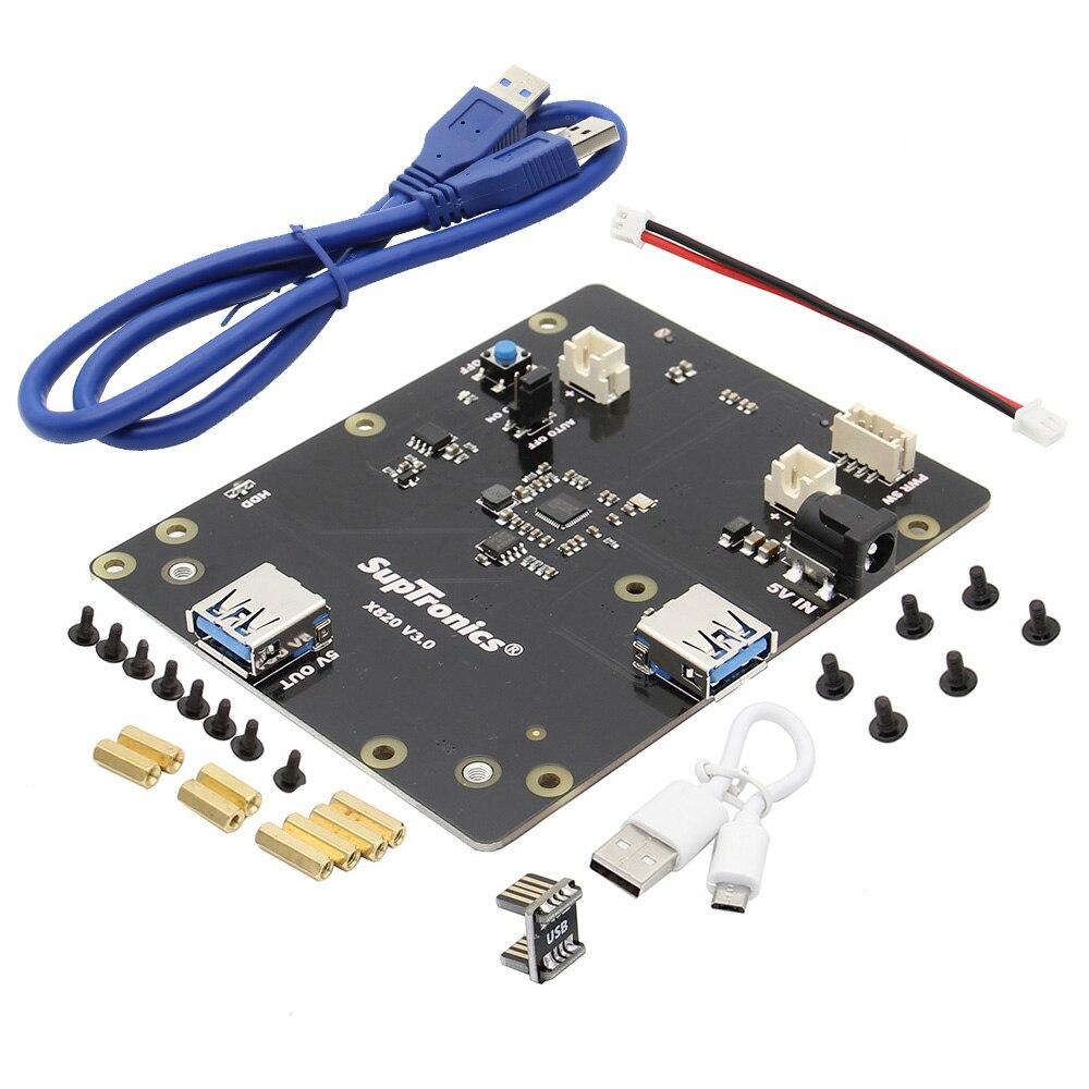 Raspberry Pi X820 V3.0 Expansion Board Supports 4TB 2.5-inch SATA USB 3.0 For Raspberry Pi 3 Model B+, 3B, 2B, B+
