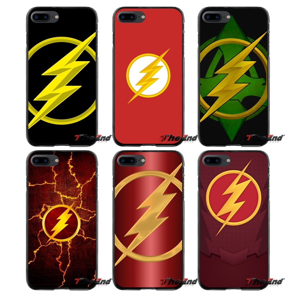 The Flash Logo Accessories Phone Cases Covers For Apple iPhone 4 4S 5 5S 5C SE 6 6S 7 8 Plus X iPod Touch 4 5 6