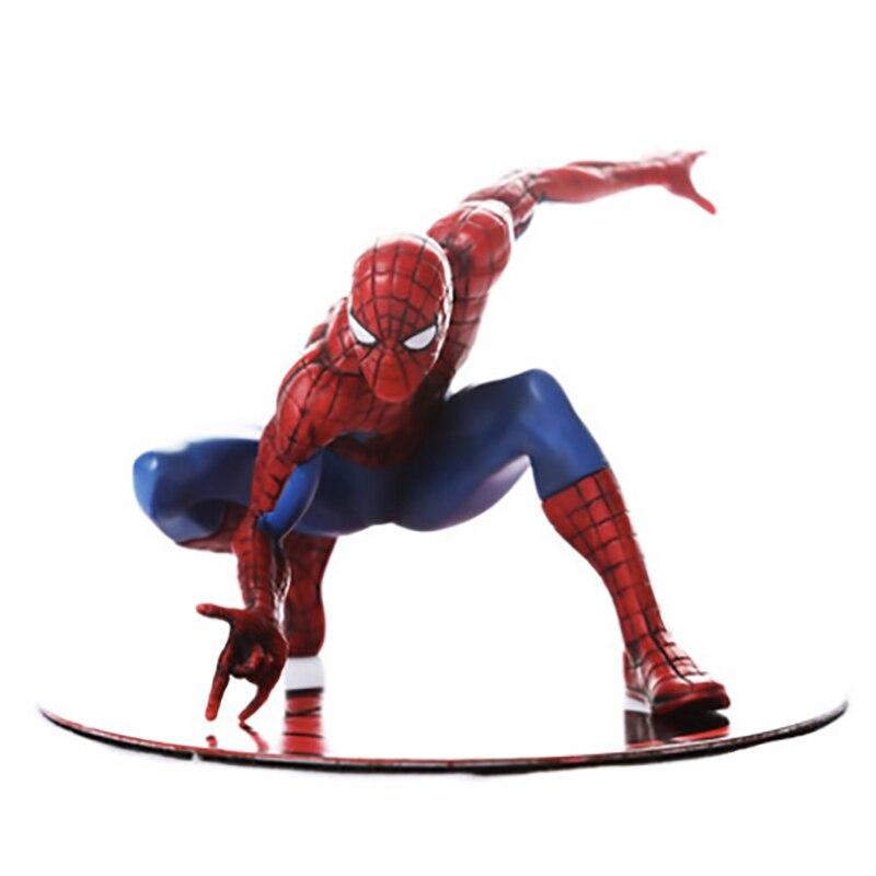 Spider-Man univers parallèle pose magnétique modèle Dolly réaliste modèle métal Base cadeau jouet décoration Robot décoration Robots