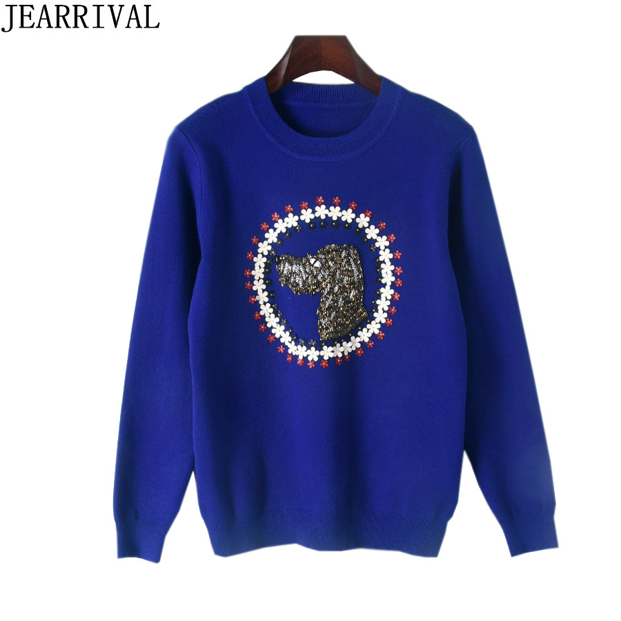 High Quality Women Sweaters 2018 New Spring Fashion Brand Design Beading Casual Long Sleeve Pullover Jumper Pull Femme Hiver