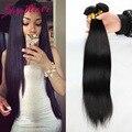6а малайзии прямые волосы девственницы 4 шт. лот 100 г/3.5 унц. небо волос необработанные человеческих волос соткет оптовая цена малазийского прямые