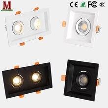 Светодиодный прожектор с одной головкой/двойной головкой 5 Вт/7 Вт/10 Вт/14 Вт/15w20w/30 Вт встраиваемый потолочный светильник квадратный/прямоугольный даунлайт