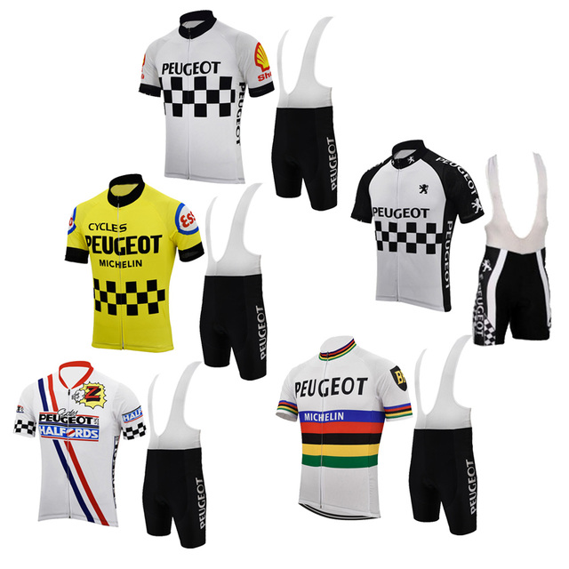 Men cycling jersey sets team retro clothing white yellow bike wear pants  classic road mountain maillot 023346c71