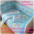 Discount! 6/7pcs Hello Kitty baby bedding set Cot bumper set.Baby boy quilt cover 100% cotton Hot Selling ,120*60/120*70cm