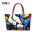 FORUDESIGNS Women Fashion Handbags Tote Casual Big Capacity Female Shoulder Bags Ladies Cross-body Bag Romero Britto For Girls