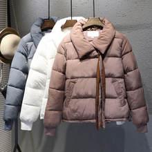 בתוספת גודל XXXL קצר כותנה מעיל נשים Harajuku סגנון חורף מעיל נשים Chaqueta Mujer לחם מעיל כותנה מעיל Parka C4900