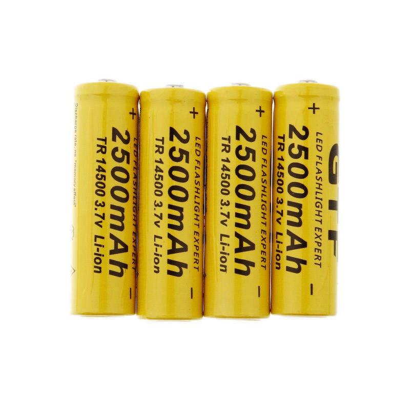 4Pcs New 14500 Battery 3.7V 2500mAh Rechargeable Liion Battery For Led Flashlight Batery Litio Battery VES23 0.11