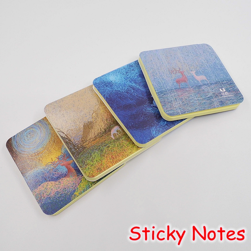 [Deli] Novelty Deer Kawaii Animal Sticky Notes and Memo Pads / Cute Post It Note School Stationery Office Supplies D6438
