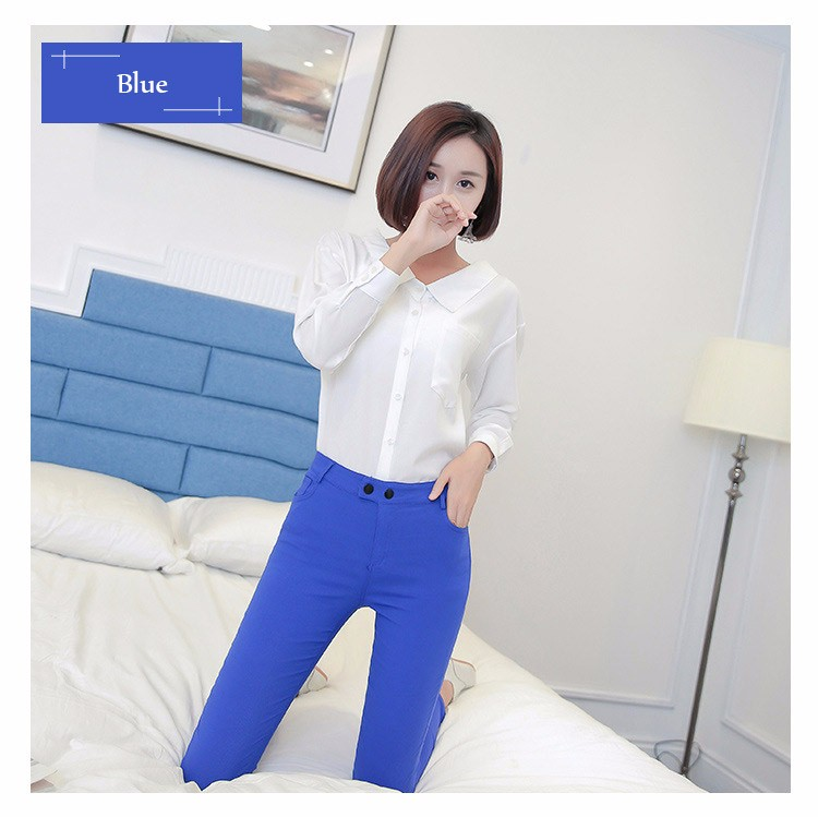 7 Colors Plus Size Pants Full Length Women Spring Autumn Pencil Pants Causal Slim High Waist Legging Stretch Trousers 2016 A663  b