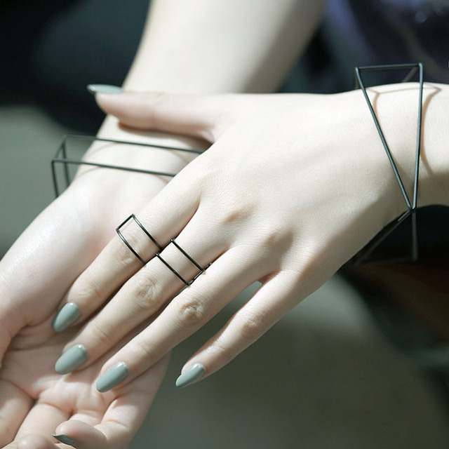 Nordic Minimalist Bangle & Ring & Earring 2