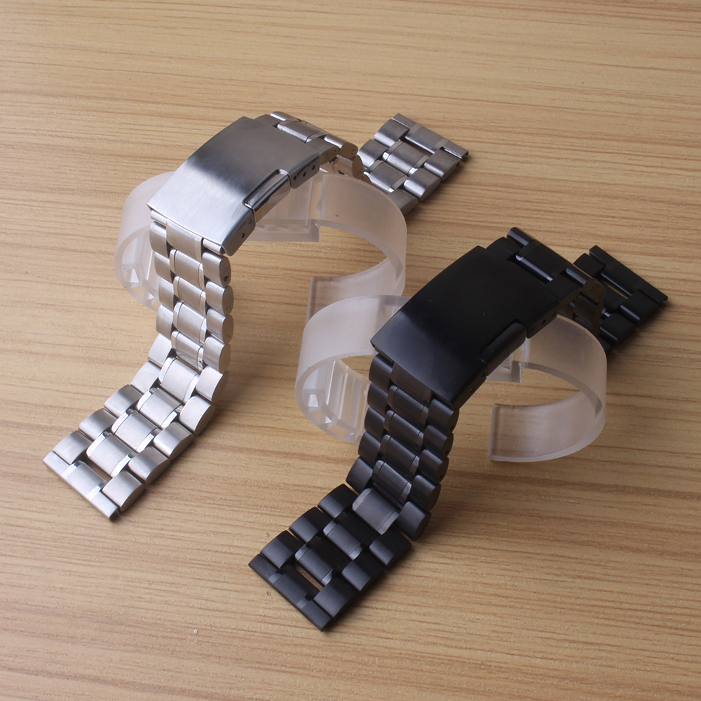 18mm 20mm 22mm 24mm Stainless Steel Watchband Watch Band Wrist Strap solid Link Bracelet accessories replacement for men hours цены