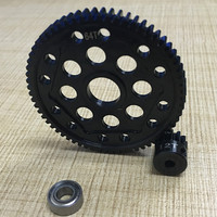 rc car steel gear gearbox 64T spur gear 12T motor gear toy car fit Axial 90048 yeti